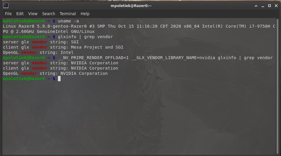 Nvidia PRIME Render Offload